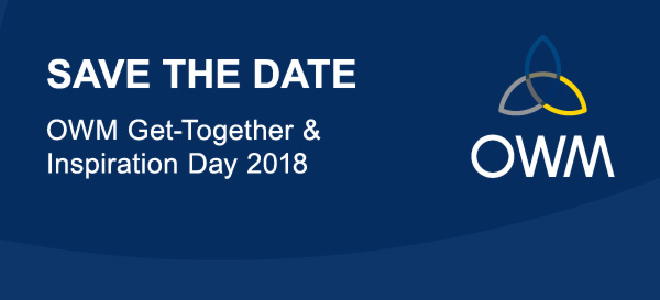 Save the Date OWM Get-Together & Inspiration Day 2018